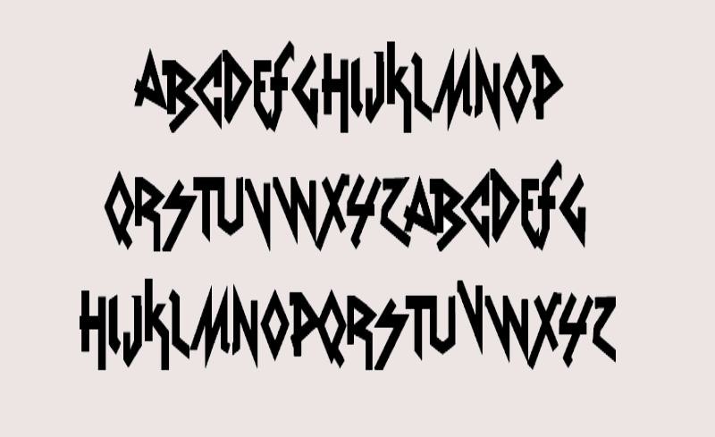 musical heavy metal font1