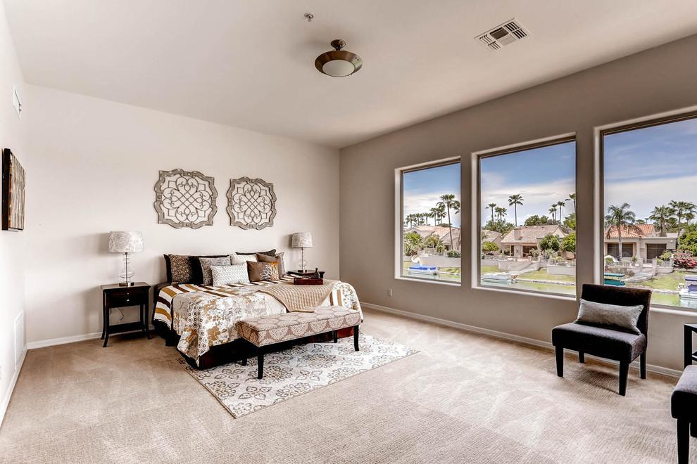 beautiful window view design for bedroom