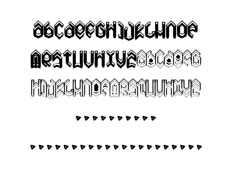 drop shadow metal font