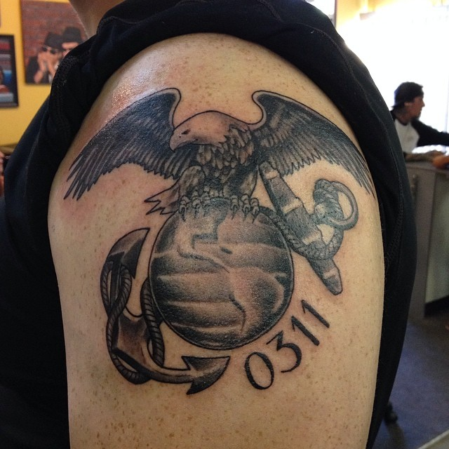 black marine corps tattoo