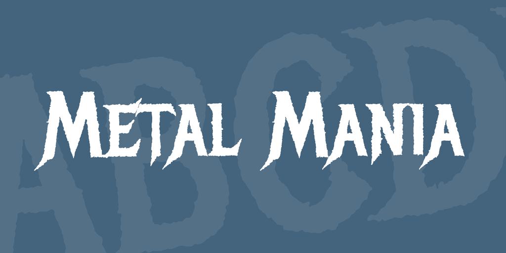 heavy metal grunge font
