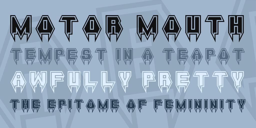 halloween metal font