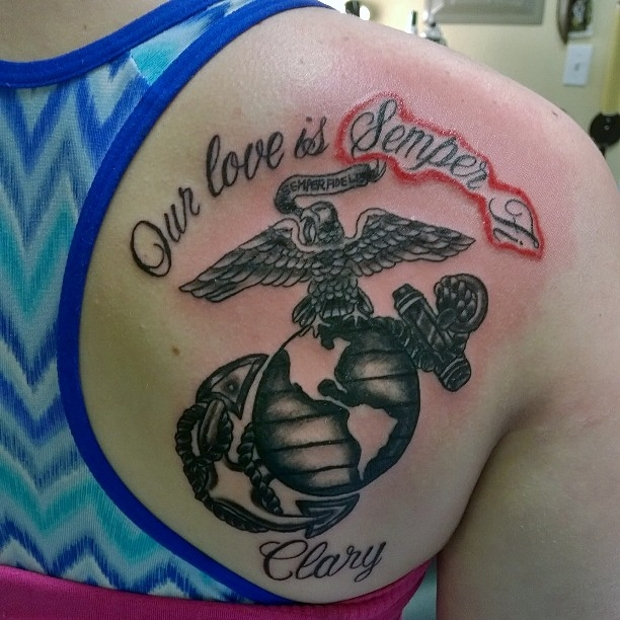 best marine corps tattoo