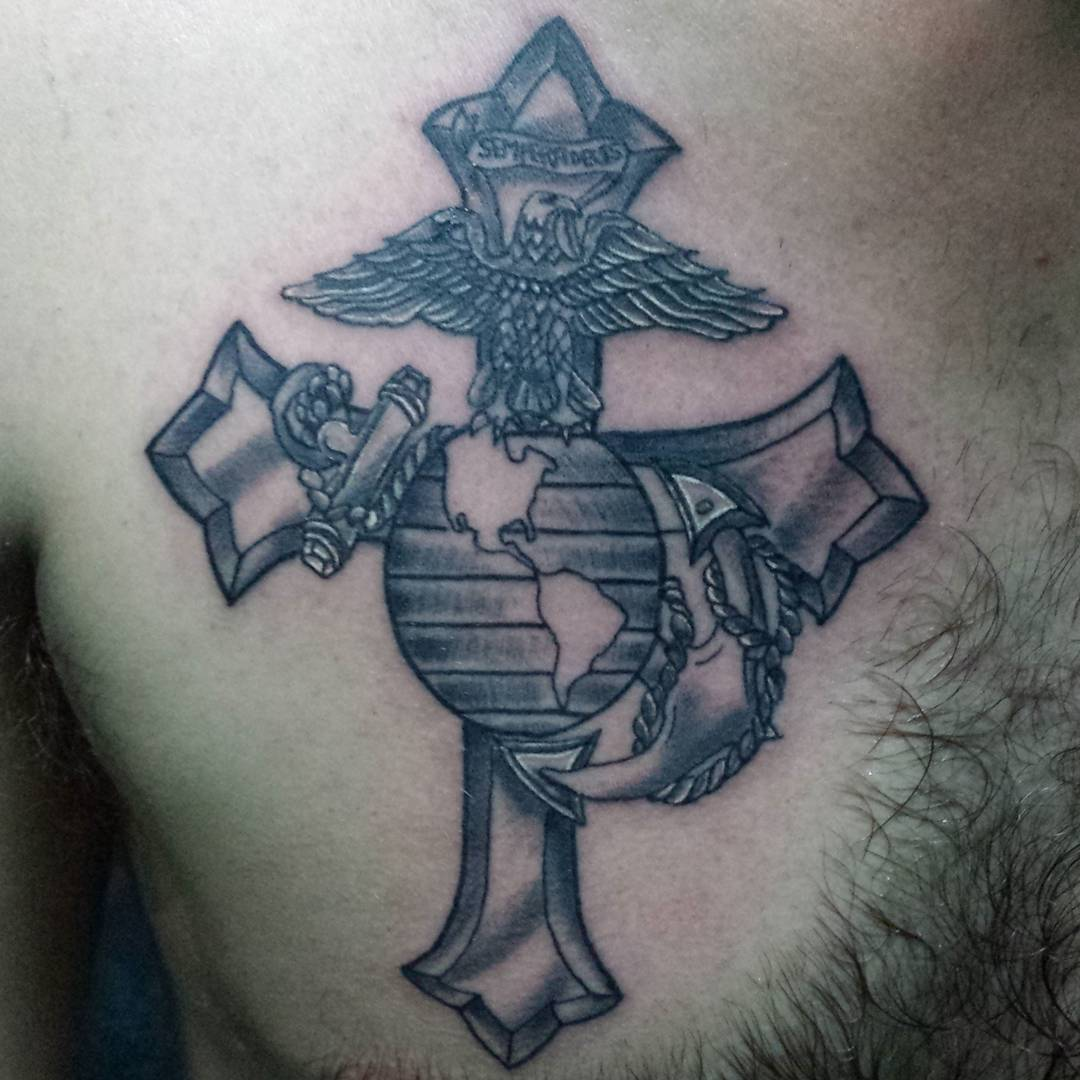 cool marine tattoos