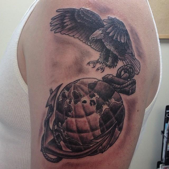 Half Sleeve Marine Corps Tattoo
