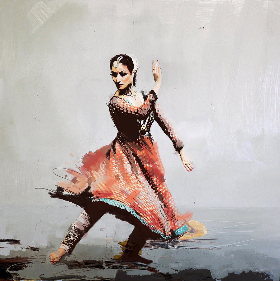 beautiful classical dancer painting