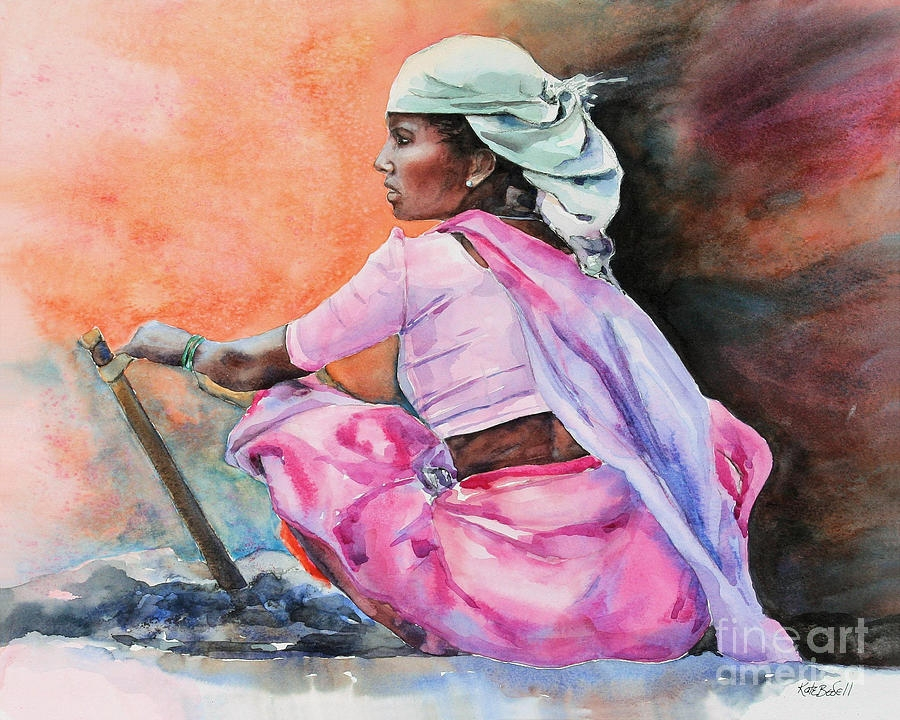 working women indian art painting