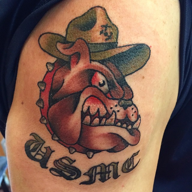 scary marine corps tattoo