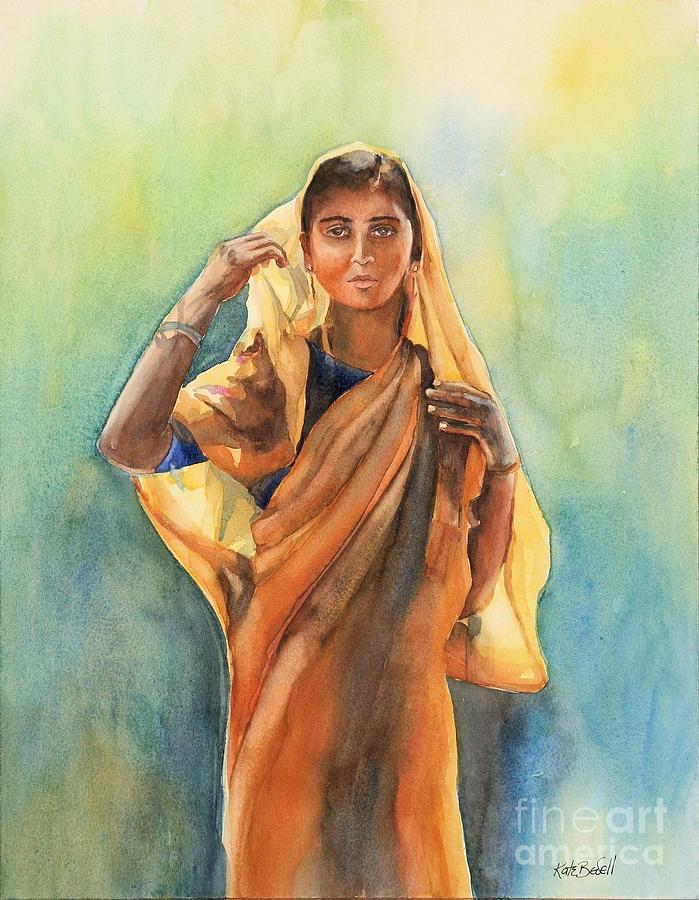 natural indian woman painting
