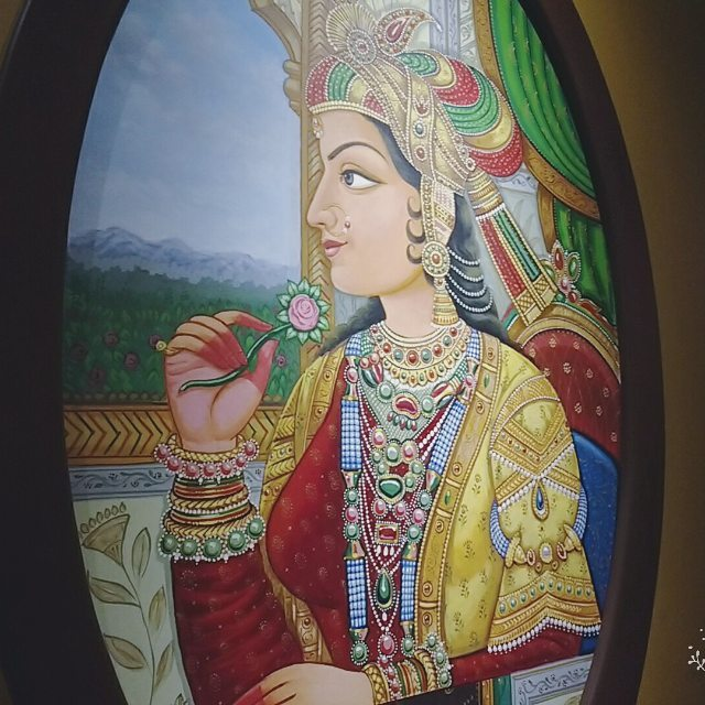 mughals woman indian painting