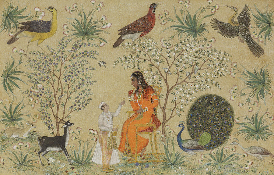 noble indian women painting