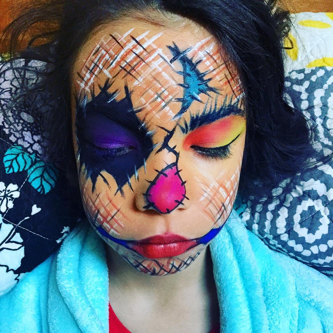 kids scarecrow makeup