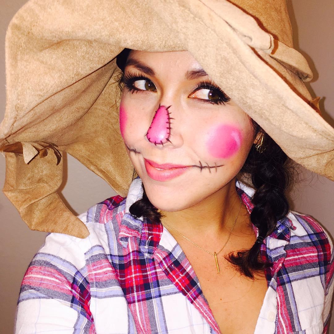 pink scarecrow makeup for women