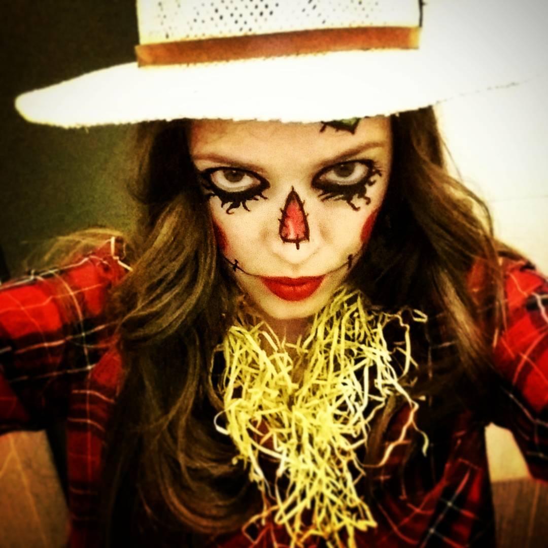 scarecrow halloween costume makeup