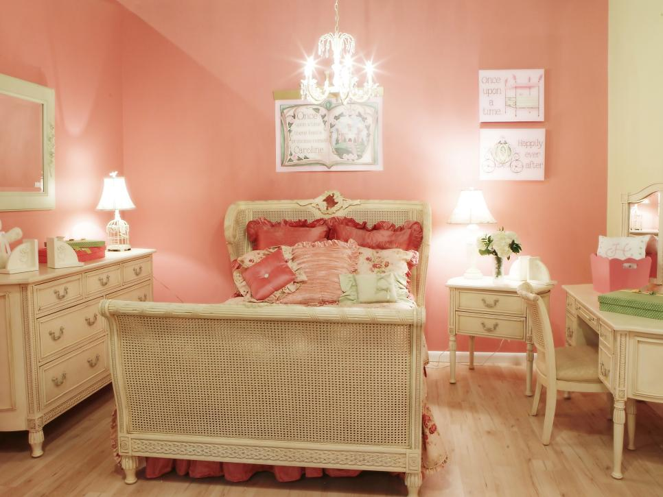 Classic Pink Wall Paints for Girls Bedroom