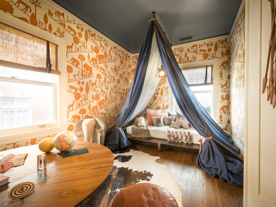 adventurous boys bedroom with nomadic tent