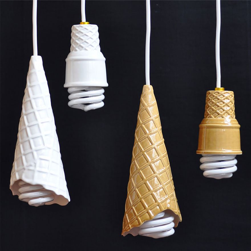 ice cream cone lamp chandlier ideas