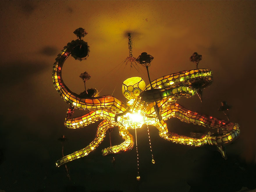 cool octopus lamp chandlier ideas