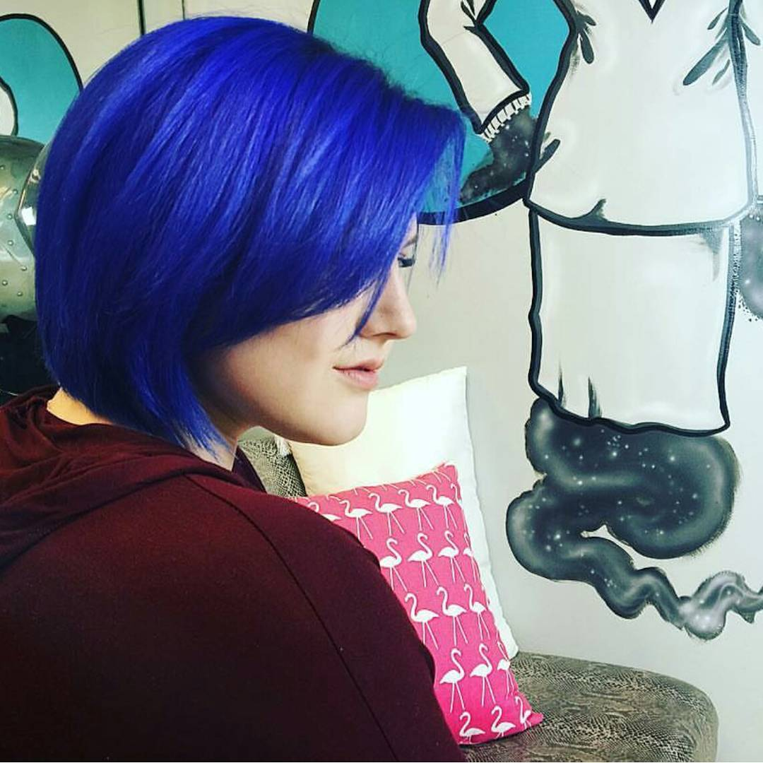 Blue Shaded Pixie Haircut