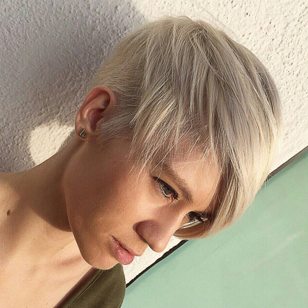 White Bob Pixie Haircut