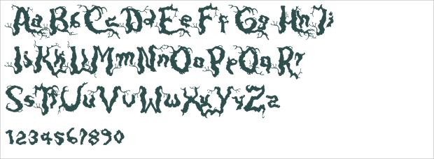dark wood font