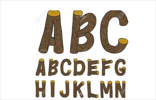 amazing wood font