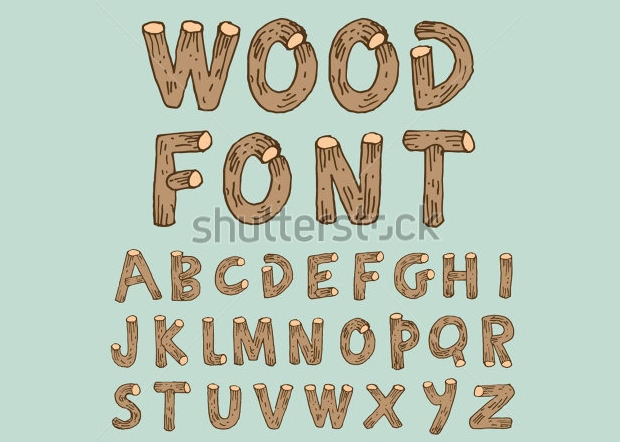 Wood Style Font