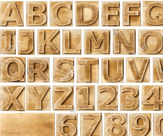 wooden blocks font