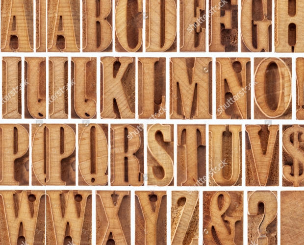 Leter Press Wood Font