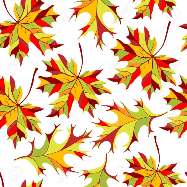 Awesome Autumn Leaves Seamless pattern