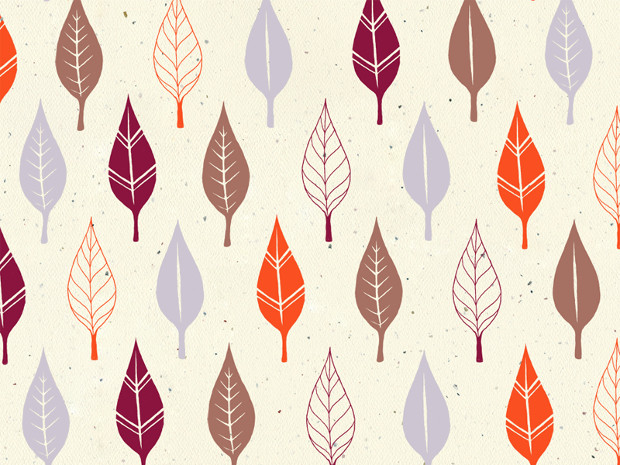 Multicolored Leaves Seamless Pattern