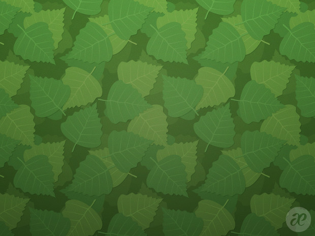 Birch Leaves Floral Pattern