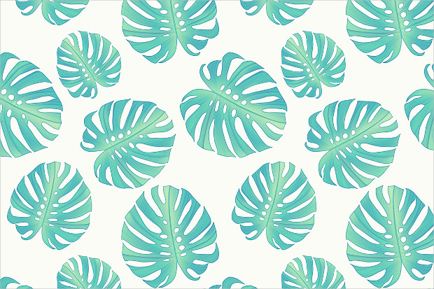 monstera leaves seamless pattern