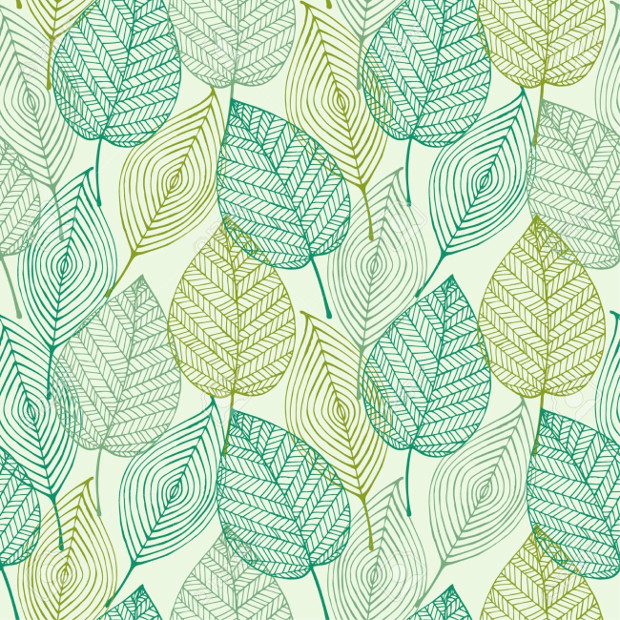 Decorative Spring Leaves Pattern