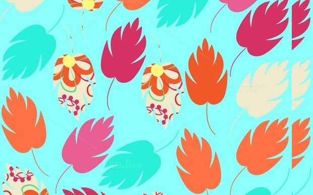 Leaves Seamless Floral Pattern