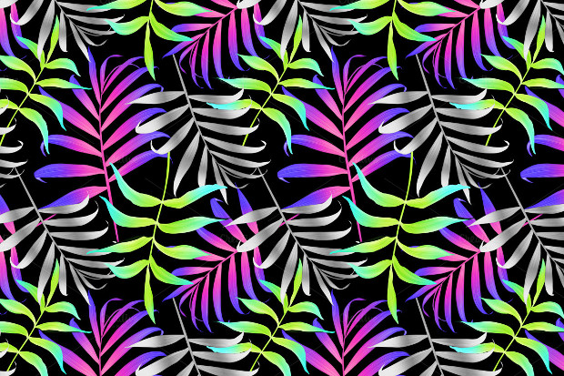 Stylish Palm Leaves Seamless Pattern