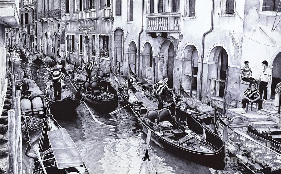 Venice Canal Ballpoint Pen Art
