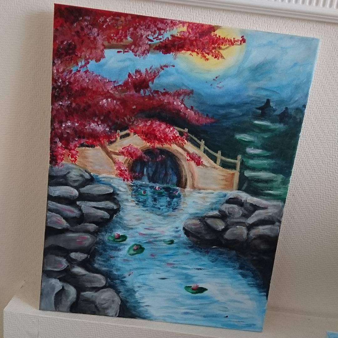 Beautiful Landscape Ballpoint Pen Art