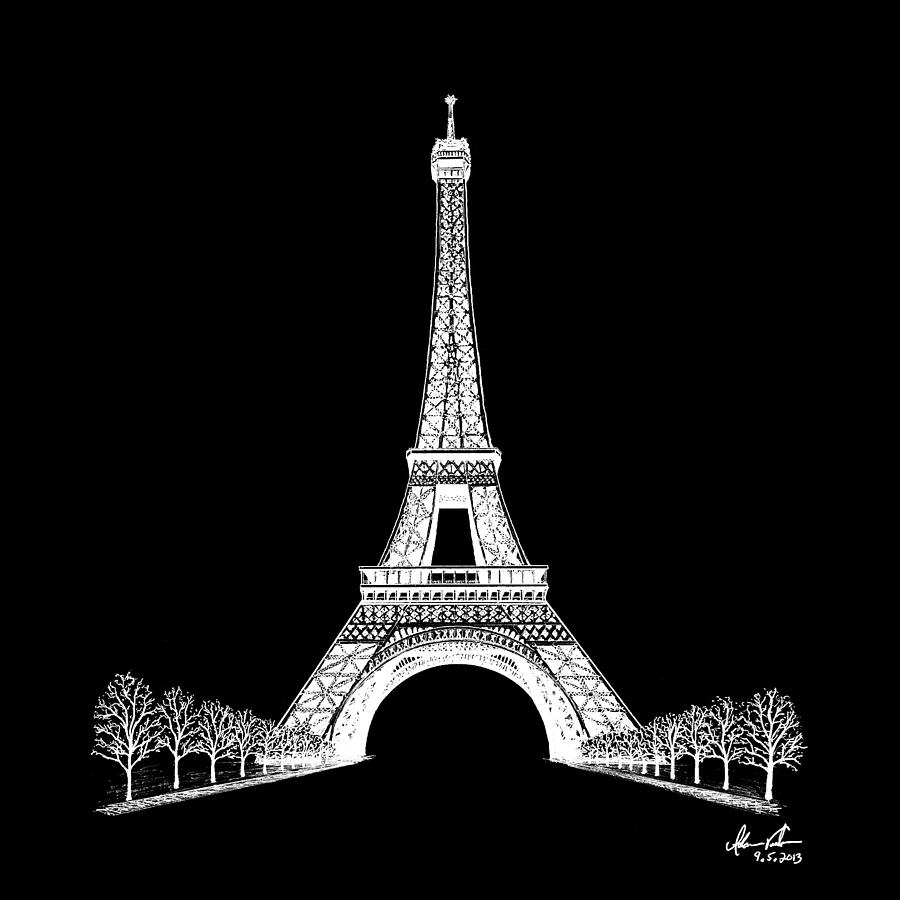 Great ... Eiffel Tower Wallpapers. 21+ Ballpoint Pen Drawings, Art Ideas Design  Trends   Premium PSD, Vector D