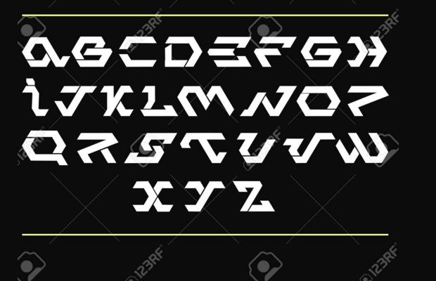 style futuristic font