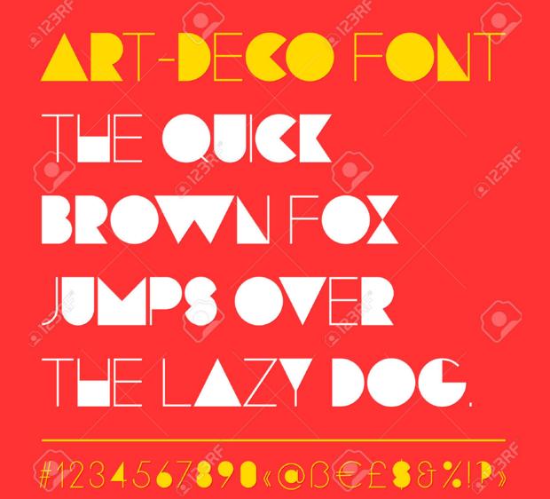 Retro and Futuristic Font Style