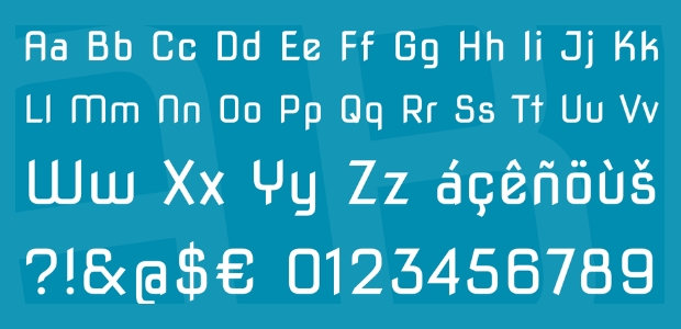 Blocky Square Font