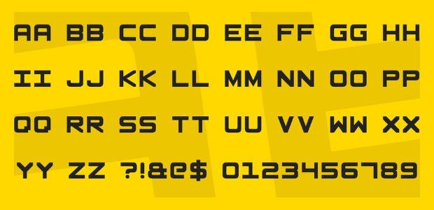 square shaped font1