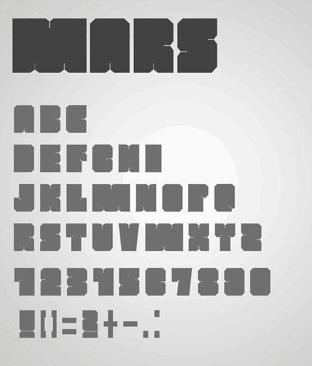bold blocky square font