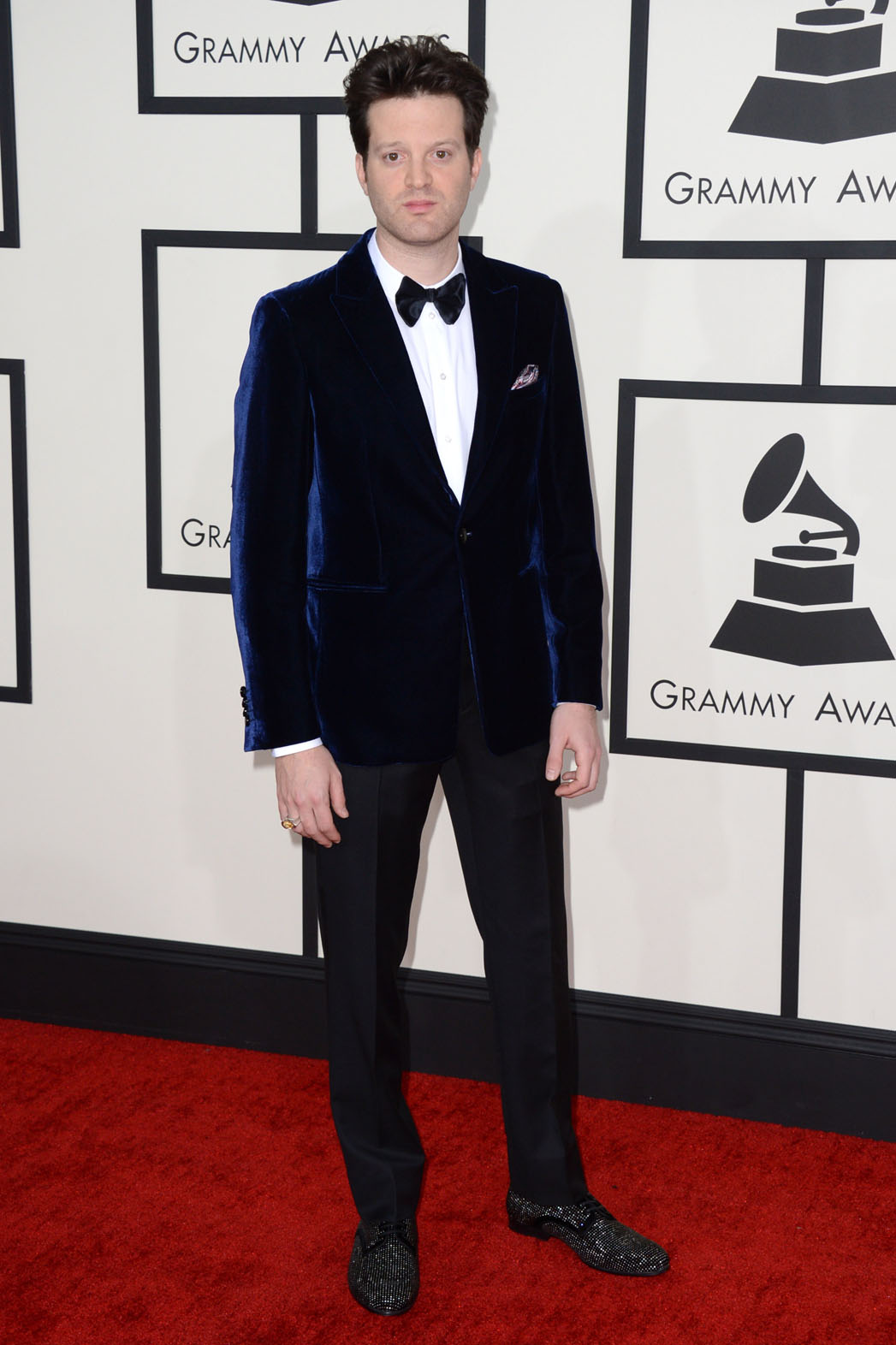 Mayer Hawthorne arrives at the 56th annual GRAMMY Awards at Staples Center on Sunday, Jan. 26, 2014, in Los Angeles. (Photo by Jordan Strauss/Invision/AP)