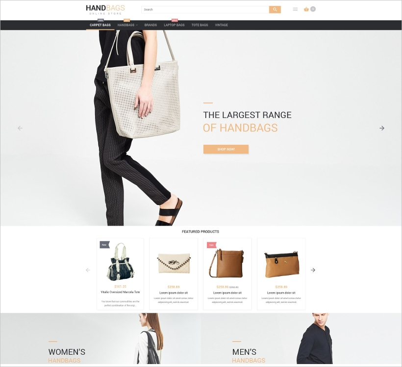 Bags Boutique Magento Theme