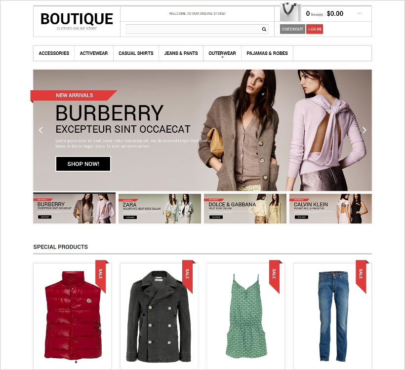 Boutique Clothes Online Store