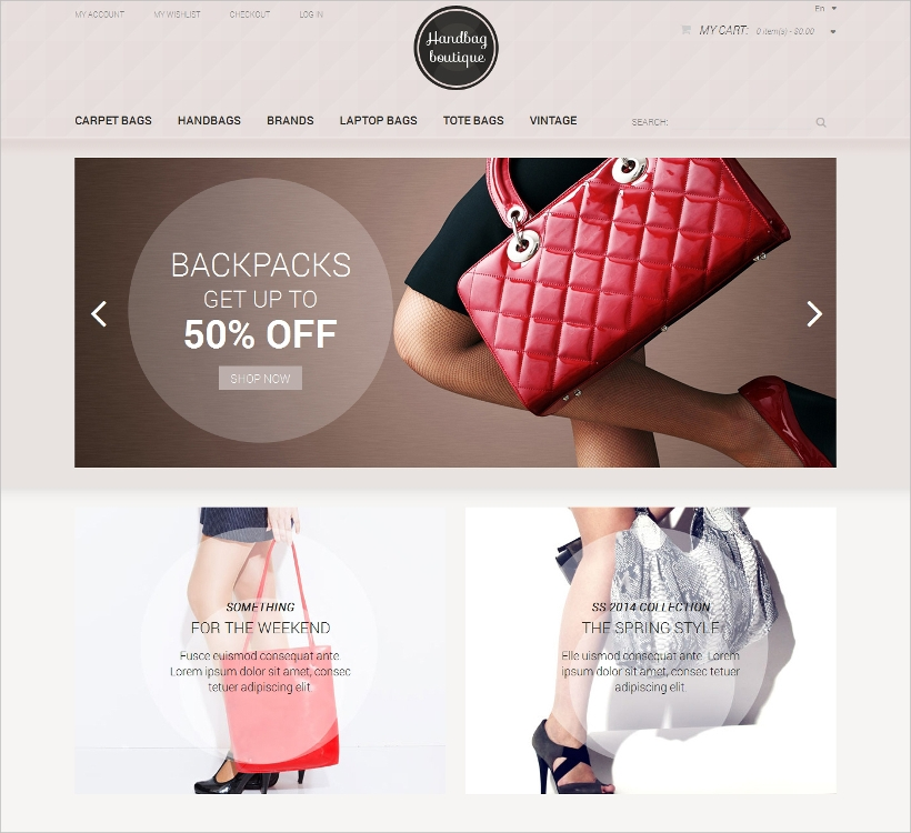 Boutique Magento Responsive Theme