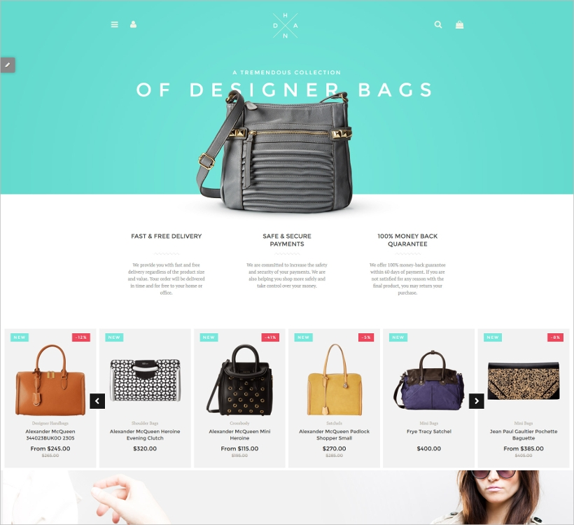 Handbag Boutique Template