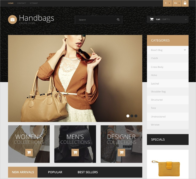 Hand Bag Online Store Template